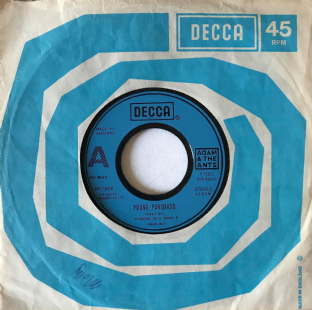 "Adam And The Ants - Young Parisians (7"") (G+/VG-)"